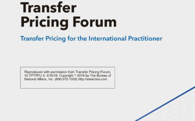 Transfer Pricing for the International Practitioner