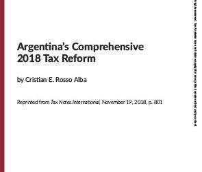 Argentina's Comprehensive 2018