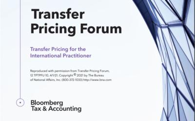 Bloomberg Transfer Pricing Forum. April 2021