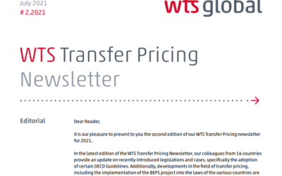 WTS. Transfer Pricing Newsletter 2021 N° 2.